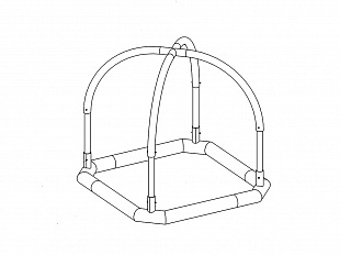 Octagonal support 2,4 x 2,4